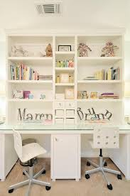 White Desk Glass Top Girls Room With Glass Top Desk Under Shelves Transitional