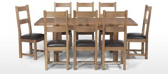 rustic oak dining table fresh kitchen table 8 chairs rustic oak 132 198 cm extending dining