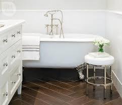 Porcelain Wood Tile Flooring Bathroom With Porcelain Wood Like Tile Floor Transitional Bathroom