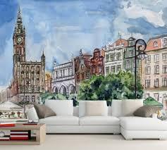 3d murals custom modern 3d murals painting building wallpaper living room tv