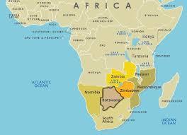 africa map kalahari desert geography of botswana where is botswana