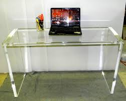 hand crafted acrylic entryway console table in 1 5 by custom
