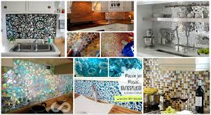 15 diy ideas how to make a fancy low cost kitchen backsplash