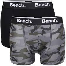 bench men u0027s 2 pack camo boxer black grey mens underwear zavvi com