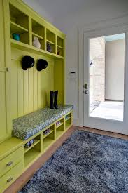 hall tree storage bench in entry contemporary with mudroom shoe