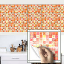 compare prices on retro tiles kitchen online shopping buy low 10pcs waterproof adhesive pvc wall sticker mosaic retro tile tiles stickers kitchen bathroom toilet wall stickers