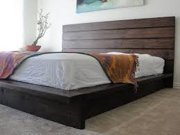 Diy Platform Bed With Upholstered Headboard by Latest King Platform Bed With Headboard Details About Platform Bed