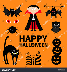 count dracula monster spider bat owl stock vector 501436192