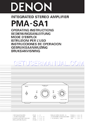 denon amplifier pma sa1 user u0027s manual download free