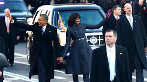 the obamas walk the streets after 2nd inauguration youtube