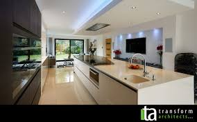 modern kitchen with wall mounted tv u2013 transform architects u2013 house