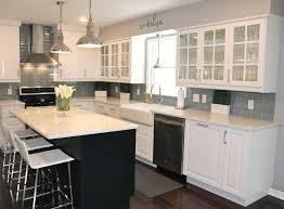classic kitchen backsplash gray subway tile backsplash with gray glass subway tile