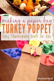 paper bag turkey craft easy thanksgiving craft for kids