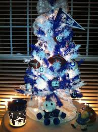colts themed christmas tree this would look good in his man cave