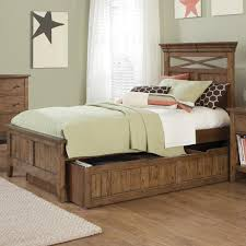 Wood Bed Legs Rustic Full Bed Frame With Storage Drawers With Traditional Wooden