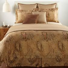 Ralph Lauren Furniture Beds by Amazon Com Lauren By Ralph Lauren Verdonnet Paisley Camel Queen