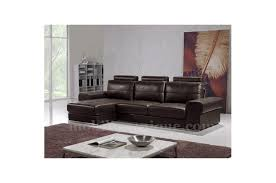 discount canapé canapé d angle en cuir noir arvin