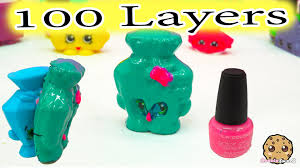 100 layers coats of nail polish on big mcdonalds happy meal