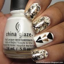nail polish wonderful gel for nails black white and gold