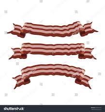 bacon ribbon bacon ribbon banners illustration design template stock vector
