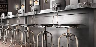 industrial metal bar stools with backs metal bar stool with back