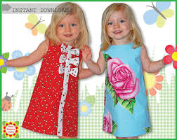pattern a line shift dress adele sewing pattern for children free mother daughter apron