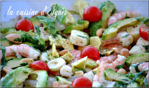 cuisine salade salade de crevettes avocat pomélo la cuisine d agnèsla cuisine d agnès
