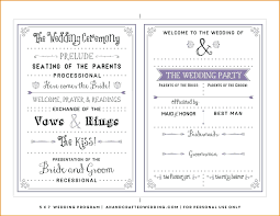 free sle wedding programs wedding programs templates wedding photography
