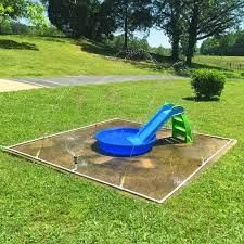 attractive kid friendly backyard design with green grass ground