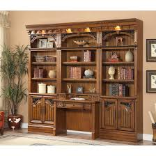 parker house barcelona 4pc library bookcase wall unit with desk