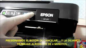 Reset Epson Xp 211 Botones | sistema de tinta continua epson xp 201 xp 211 youtube