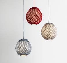 knitted is a textural modern light with traditional roots
