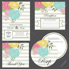 Invitation Card With Rsvp Set Of Wedding Invitation Cards Invitation Thank You Card