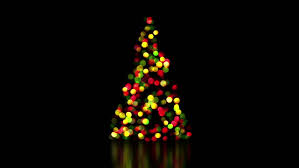 colorful tree lights out of focus seamless loop festive