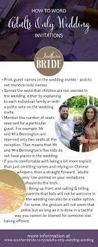 adults only wedding invitation wording how to tell guests you are an adults only wedding