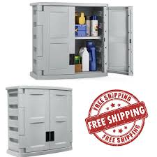 garage wall storage cabinet outdoor lockable utility shelf tool