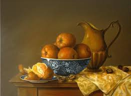 painting for kitchen jeanne illenye still lifes oranges walnuts classical oil