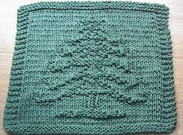 digknitty designs another christmas tree knit dishcloth pattern