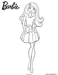 Coloriage Barbie En Jupe dessin