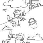 jack be nimble coloring page coloring pages kids collection