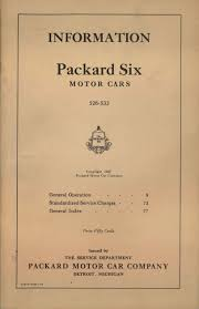 1927 packard six owners manual