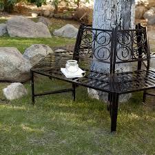 amazon com wrap around tree bench this metal tree surround