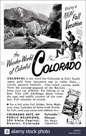 Colorado Tourism Map by 1950s Advertisement For Colorado Tourism Advert In American