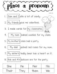 worksheets on pronouns worksheets