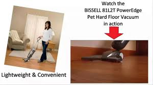 Laminate Floor Vacuum Bissell 81l2t Poweredge Pet Hard Floor Vacuum Cleaner Review Youtube