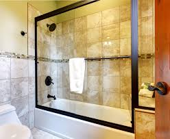 bathroom brown tubs with shower doors frameless bath screen and