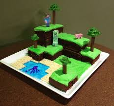 minecraft world cake with pictures
