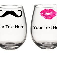 his hers wine glasses beeuniqueboutiquee on etsy on wanelo