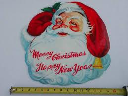 Christmas Window Decorations Vintage by 44 Best Die Cut Xmas Images On Pinterest Die Cutting Vintage