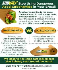 Subway Sandwich Meme - brandchannel subway comes clean on chemical in breads after